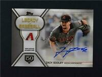 2019 Topps Series 1 Legacy of Baseball Auto 150th Ann #LBA-ZG Zack Godley /150
