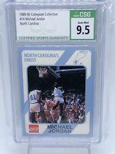 1989-90 Collegiate Collection #14 Michael Jordan North Carolina CSG 9.5 Tarheel