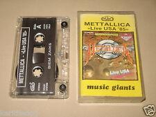 METALLICA - Live USA '85 - MC Cassette polish tape ELBO press 1990/1335