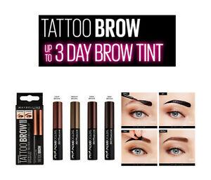 Maybelline TATTOO GEL Eyebrow Tint Longlasting 3 Days Peel Off Brow 6 SHADES