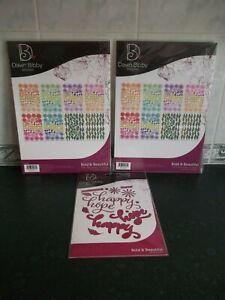 Dawn Bibby Designs ~ Bold & Beautiful ~ Die Set  and  A4 Charisma x 2 ~ BNIP