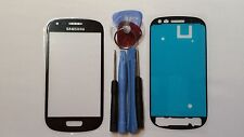 Samsung Galaxy S3 Mini Black Genuine Glass Front Screen Lens Tools + Adhesive