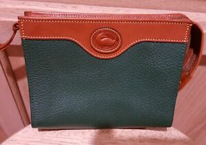 Dooney & Bourke Classic Evergreen Leather Cosmetic Case w/Suede Lining, NWOT