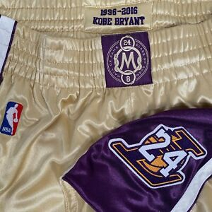 Kobe Bryant Los Angeles Lakers Mitchell & Ness Hall Of Fame Shorts Lakers sz M L