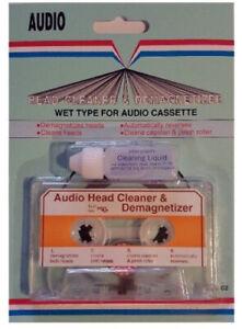 Audio Tape Cassette Player Wet Head Cleaner & Demagnetizer