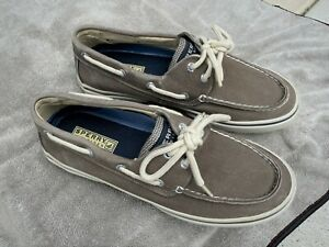 Sperry Top-Sider Mens size 8M Gray/Brown/Beige Loafers Boat Shoes
