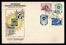 1962 ARGENTINA FDC PHILATELIC EXPO CACHET COMBO SEMI POST