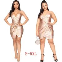 Women's Sexy Slim Sling Mini Dress Lady Bodycon Nightclub Backless Party Dresses
