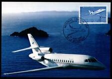 "Flugzeug ""Mystere Falcon 900"". Maximumkarte. Frankreich 1985"