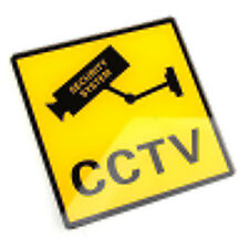 2pcs CCTV Security Camera Warning Stickers / Signs for Shop Hotel Office Vehicle