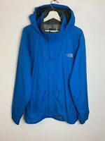 Men's The North Face HyVent Hooded Raincoat Jacket Blue UK Size L Large