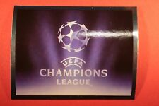 PANINI CHAMPIONS LEAGUE 2007/08 N. 1 THE BADGE WITH BLACK BACK MINT!!