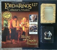 LOTR Collectors Models #127 Bilbo & Frodo at Rivendell Boxed & Magazine RARE
