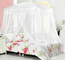 New Bed Canopy Mosquito Net White Lace bedding fits twin / Queen