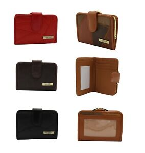 Ladies Leather Patch Work Purse Wallet Clasp ID Money Bag Credit Card Holder