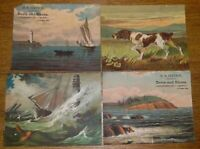 Antique Paper Advertising Cards Stetson Boots & Shoes & Charles Tilton Quincy MA