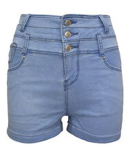 Ex New Look Ladies Womens Spring Summer Sexy Hot Pants Light Denim Shorts *NEW*