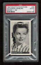 PSA 2 KATHERINE HEPBURN 1947 Kwatta Chocolate Film Stars Card #35