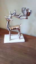Metal Reindeer/Stag/Christmas Centre Piece Candle/Tealight Holder NEW