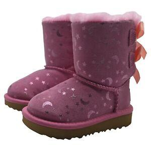 UGG Toddler Girl Moon & Stars BAILEY BOW Boots Sheepskin