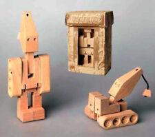 Wooden Transformer Toy, Wooden robot  crane Truck, wooden trucks