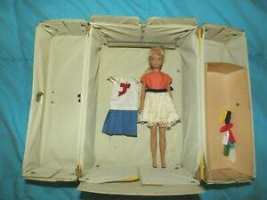 Vintage Skipper Doll, Case, Clothes 1963 Blonde Blue Eyes  NICE!