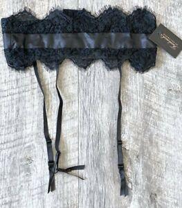 NEW FREDERICK'S OF HOLLYWOOD AMELIE BLACK LACE GARTER BELT SIZE L/XL L XL