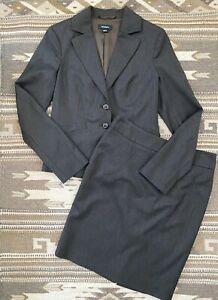 MAX & CO Women's Brown Skirt Suit Wool Blend Size 4