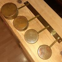 VTG Copper Measuring Cups w/ Brass Handles 1 cup-3/4 cup,1/2cup,1/4 Cup mcm