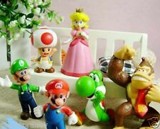"Exquisite 6pcs Mini Super Mario Bros 1.5~2.5"" Action Figures Doll Toy Gifts"