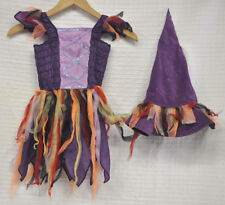 The CHILDREN'S PLACE Purple WITCH Dress + HAT Girl's Halloween COSTUME Sz S 5/6