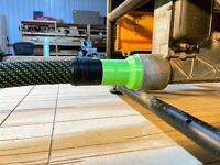 Festool Cleantec 27mm Locking Dust Adapter for Dewalt Table Saw 2 1/4 inch Port
