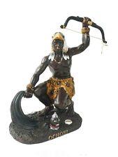 """12"""" Statue Orisha Ochosi Yoruba Santeria Guerrero Warrior Figure African God"""