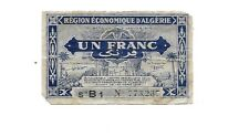 1949 French Algerie 1 Franc Bank Note  Gorgeous Note !