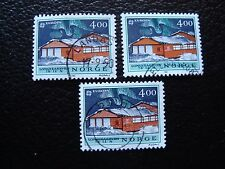 NORVEGE - timbre yvert et tellier n° 1006 x3 obl (A04) stamp norway (R)