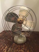 Vintage Gambles Coronado Oscillating Electric Metal Table Fan
