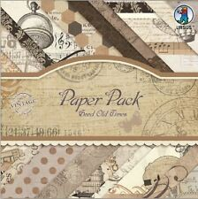 "URSUS Vintage Paper Pack ""Good Old Times"" 40 Blatt 20,5x20,5cm Scrapbook Papier"