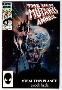 THE NEW MUTANTS Annual #1 VF/NM a MARVEL comic X-Men 1st Lila Cheney