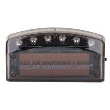 6 LED Blue Car Solar Charger Security Burglar Alarm Warning Anti-theft Light