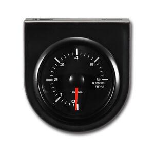 "MOTOR METER RACING Universal 2"" Tachometer for Diesel 6000 RPM White Led"