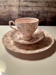 Tuscan Fine English Bone China #9291H Tea Cup-Pastry Saucer Trio - Rosalie