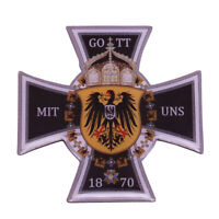 Prussia Iron Cross 'Gott Mit Uns' Lapel Pin Badge Crown Eagle 1870 Germany Medal
