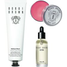 BOBBI BROWN GLOW SKINCARE TRIO SET - RADIANCE BOOST + FACE OIL + LIP BALM