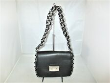 Michael Kors Large Leather Ring Chain Piper Flap Shoulder Bag, Tote Satchel $498