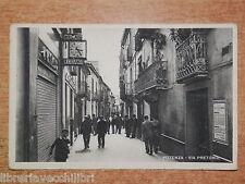 CARTOLINA vecchia foto d epoca POTENZA VIA PRETORIA anni 30 fascista manifesto