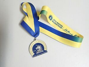 Original 2010 114th Boston Marathon Solid Pewter Finisher Medal - Minty