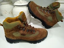 Quest Gore Tex Brown Suede Leather Hiking Boots Men's Size 11.5 M Vibram Outsole