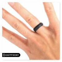 Knot Theory Silicone Wedding Rings for Men Women Elegant 5mm Band Width 8-8.5