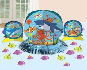 OCEAN BUDDIES TABLE DECORATING KIT - BIRTHDAY PARTY CENTRE PIECE #281624