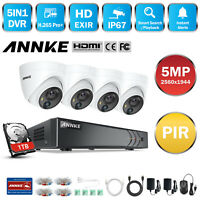 ANNKE 5in1 5MP 8CH DVR Outdoor CCTV Security Camera System 5MP PIR Detection 1TB
